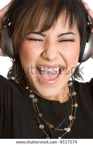 Music Girl - stock photo