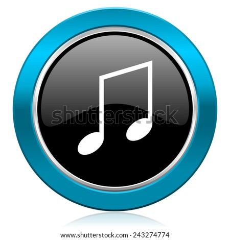 music glossy icon note sign
