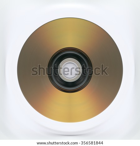 Music Gold CD - stock photo