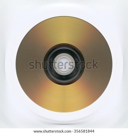 Music Gold CD - stock photo