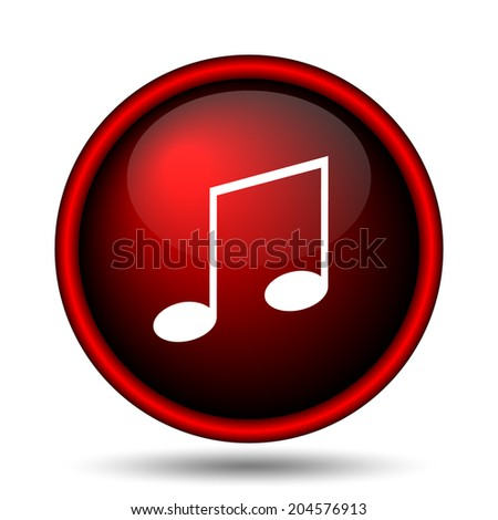 Music icon. Internet button on white background.