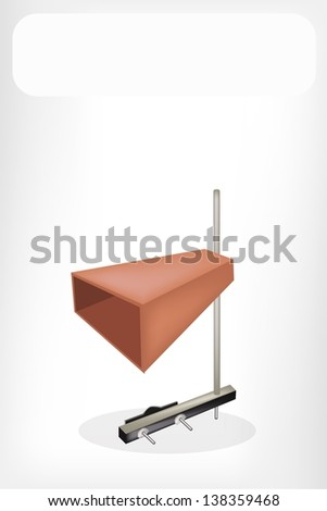 Music Instrument, Illustration of Musical Metal Cowbells for Musical Concert with White Label for Copy Space and Text Decorated   - stock photo