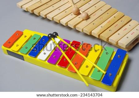 Music instruments. Xylophone. - stock photo