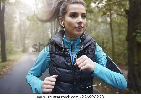 Music is my personal motivation  - stock photo