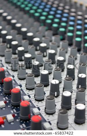 Music mixer - stock photo