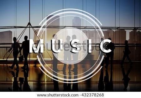 Music Multimedia Radio Party Lifestyle Concept - stock photo
