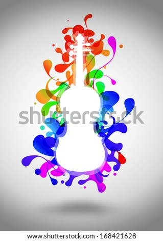 Music night concert invitation poster or flyer background with space - stock photo