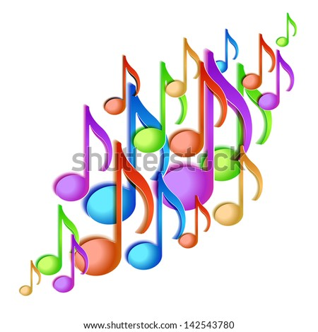 Music note background design. - stock photo
