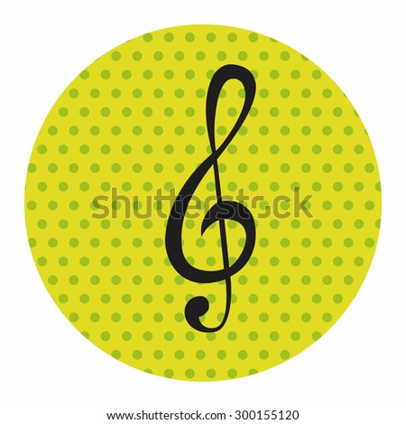 music note theme elements  - stock photo