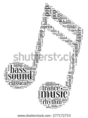 Music note - word cloud