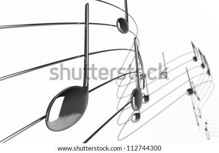 Music notes - Isolated on White Background - stock photo
