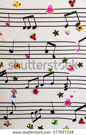 Music notes on a solide white background - stock photo