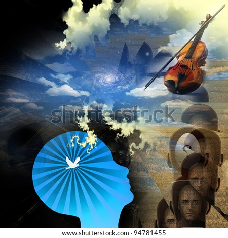 Music of mind - stock photo