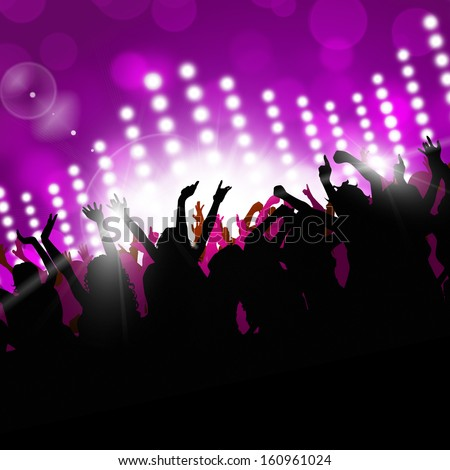 music party nightclub background