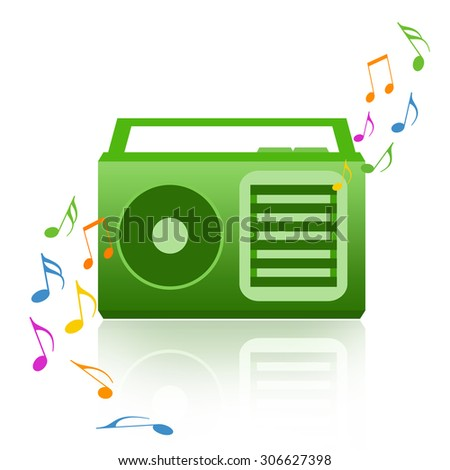 Music radio - stock photo