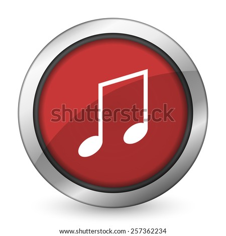 music red icon note sign