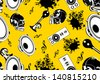 music seamless pattern background - stock vector