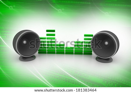 Music speaker - stock photo