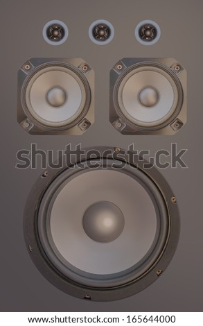 music speaker isolated
