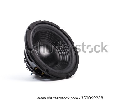 Music speaker on white background