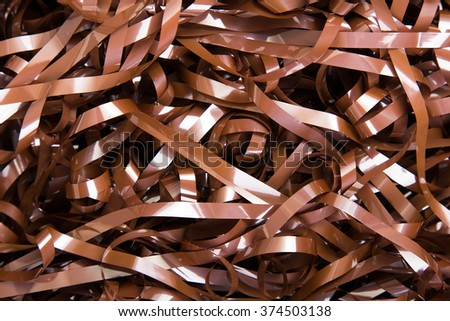 music tape texture for background - stock photo
