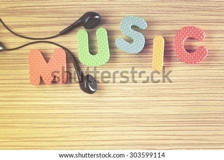 Music theme. Image cross processed for retro look. - stock photo