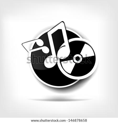 Music web icon - stock photo