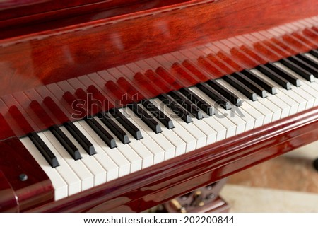 Musical Background of Classical Piano Keyboard - stock photo