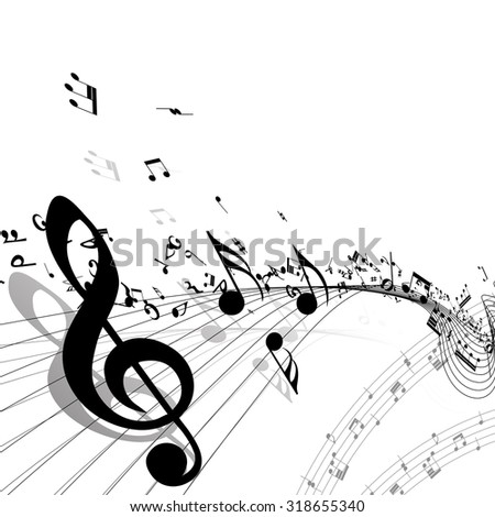 Musical background.  Raster illustration. - stock photo