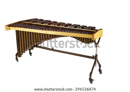 Musical background series. Classical The image of a xylophone, isolated on white background - stock photo