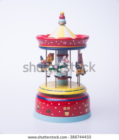musical box or colorful wooden carousel musical box