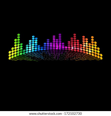 Musical colored equalizer  - stock photo