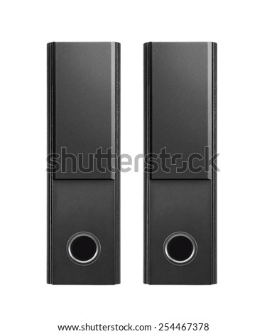 musical columns isolated on a white - stock photo