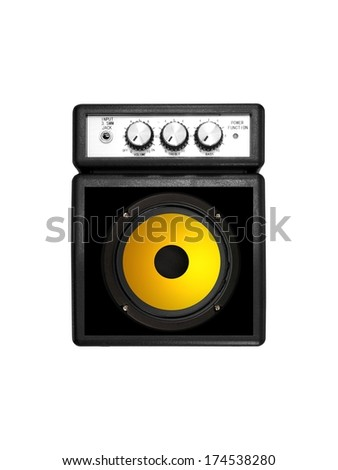 Musical equipment isolated against a plain background