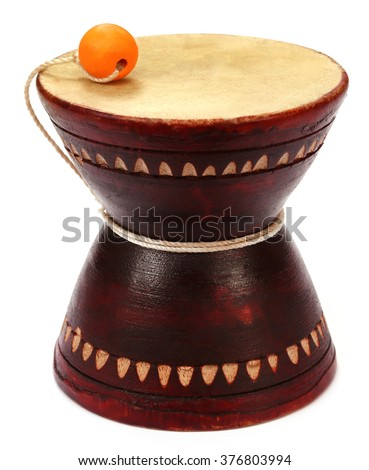 Musical instrument Damaru known as dugdugi in Bangladesh  - stock photo
