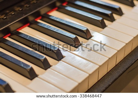Musical instruments, the piano, the melody and beautiful sounds.