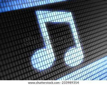 Musical note - stock photo