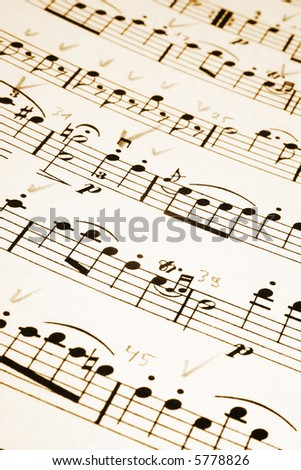 Musical notes - stock photo