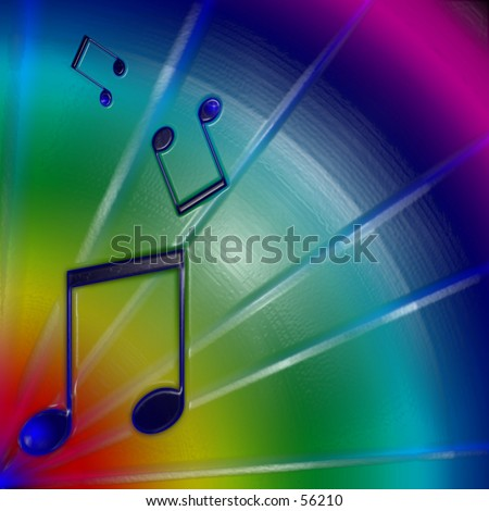 Musical Notes Background - stock photo