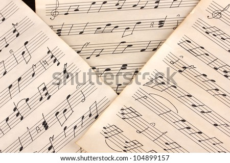 Musical notes close-up