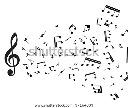 Musical notes staff theme