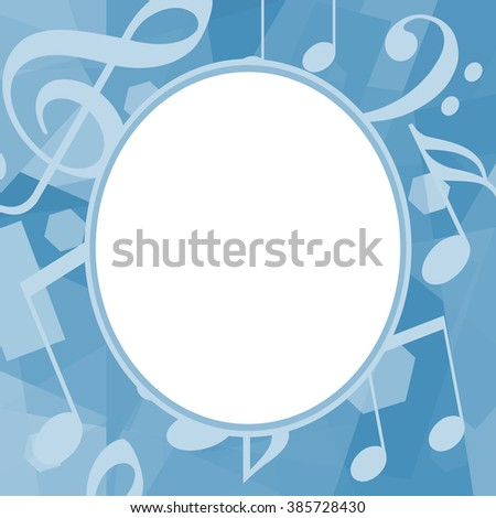 Musical photo frame - stock photo