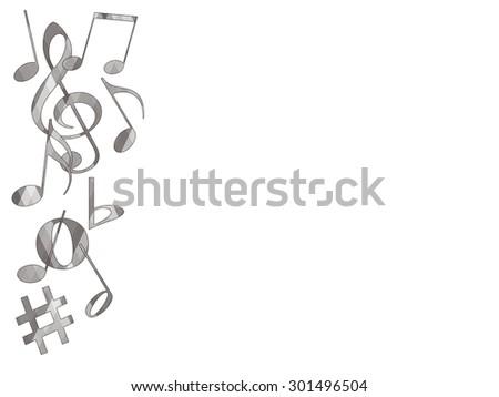 Musical Text Box - stock photo
