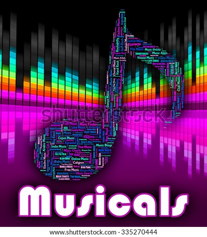 Musicals Music Indicating Sound Track And Acoustic - stock photo