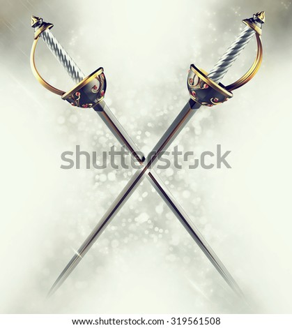 Musketeer Swords - stock photo