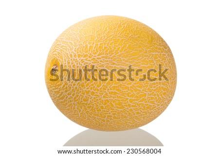 Muskmelon isolated on white background / Muskmelon - stock photo