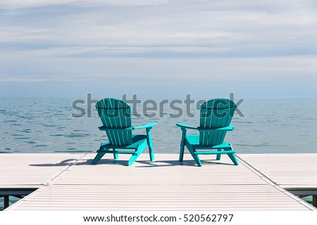 Adirondack Chairs On Beach Stock Images RoyaltyFree Images