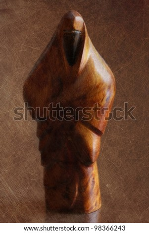 Muslim woman sculpture