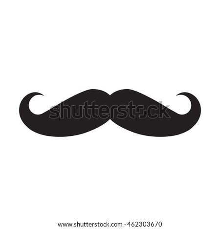 Mustache icon isolated on white background.