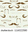 Mustaches seamless pattern raster version - stock photo